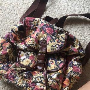 70s floral backpack Disney
